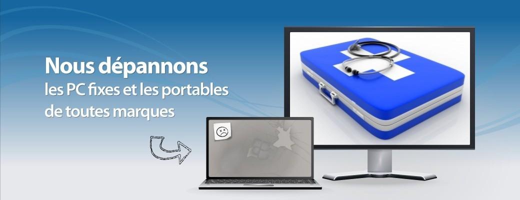 Dépannage et Réparation d'ordinateurs PC toutes marques