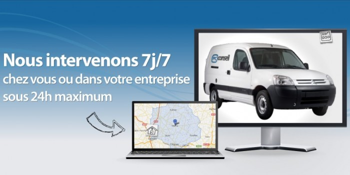 Zone d'intervention PC Conseil